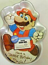 Vtg Wilton Nintendo Super Mario Bros Cake Pan Mold 1989
