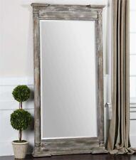 Weathered Wood Decorative Dressing Wall Floor Mirror Xl 74''
