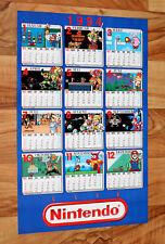 1994 Vintage Nintendo Calendar Poster Mario & Yoshi Metroid Star Wing Zelda Plok
