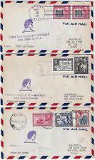FIJI 1941 US THREE FIRST TRANSPACIFIC AIR MAIL COVER SUVA TO SAN JOSE CALIFORNIA