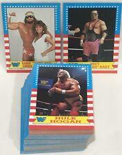 1987 Topps WWF Wrestling Complete Set (75) Bret Hitman Hart Rookie Macho Man WWE