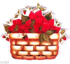 "3"" Strawberries strawberry fruit basket kitchen fabric applique iron on"