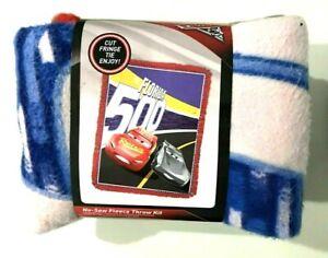 CARS 3 Disney Pixar The Florida 500 No-Sew Fleece Throw Kit BRAND NEW