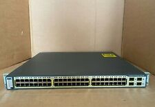 Cisco 3750-48PS-S with Brackets & Latest IOS Cisco Catalyst C3750-48PS-S