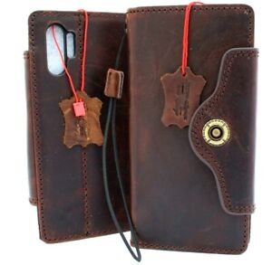 Genuine vintage Leather Case for Samsung Galaxy Note 10 Plus Handmade Wallet Art