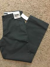 NWT DOCKERS D2 Straight Fit Easy Khaki Pants Flat Front Gray 32X34 MSRP $50