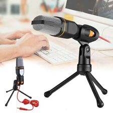 Condenser Microphone Tripod Desktop Audio Recording for Computer PC Phone Mic