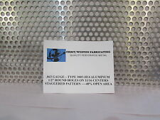"1/2"" ROUND HOLE--.063 THICK ALUMINUM PERFORATED METAL--13"" X 23-1/2"""