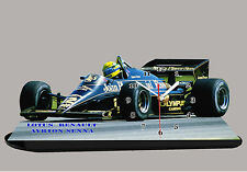 MODEL CARS, FORMULA ONE , F1, AYRTON SENNA, LOTUS RENAULT-01 with Clock