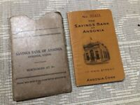 VINTAGE 1954  ANSONIA SAVINGS BANK ANSONIA CONNECTICUT , MAIN ST Bank Book