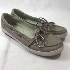 Keds Women's Sz 9.5 Beige Tan Textile Loafers Boat Shoes Sneakers Comfort Flats