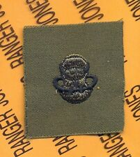 US Army Scuba Diver badge OD Green & Black qualification cloth patch