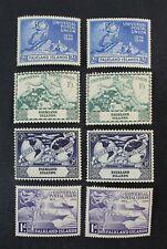 Ckstamps: Gb Stamps Collection Falkland Island Scott#103-106 Mint H Og 2 Sets