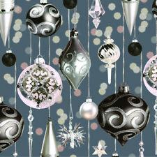 Servietten Napkins 33x33cm Serviettentechnik Weihnachten Baubles silver & pink