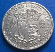 1929 KING GEORGE V SILVER HALF CROWN COIN 91ST BIRTHDAY