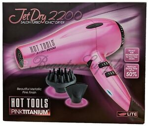 HOT TOOLS Hot Pink Jet Dry 2200 Salon Turbo IONIC Dryer Model HPK04