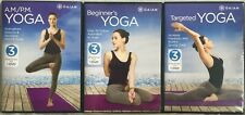 3 Gaiam workout DVD lot Beginner's Yoga A.M./P.M. Targeted Rod Stryker exercise