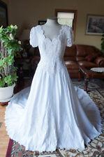 Vintage Beaded Short Sleeve Wedding Dress