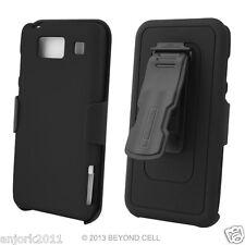 Motorola Droid Razr Maxx HD Hard Case+Holster Combo w/ Swivel Belt Clip Black