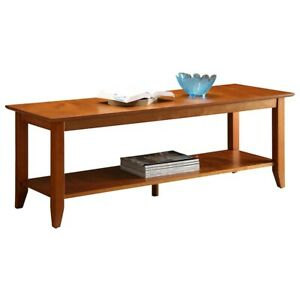 Convenience Concepts American Heritage Coffee Table w/Shelf, Cherry - 7104088CH
