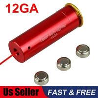 12GA Shotgun Boresighter 12 Gauge Laser Cartridge Bore Sighter Battery Included