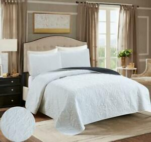 2/3 Luxury Bed Spread Cover Quilt Set Soft Bedding Cover Size King Queen Twin