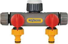 More details for hozelock 2-way tap connector two hoses from one tap garden watering - 2252