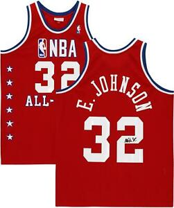 Magic Johnson LA Lakers Signed Red M&N 1988 All-Star Game Authentic Jersey