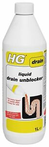 HG Liquid Drain Unblocker 1 Litre Extremely Powerful Ideal For Showers