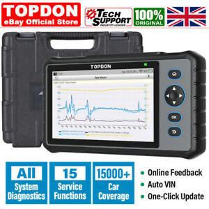 TOPDON Car Diagnostic Scanner Tool OBD2 Engine All System Oill EPB Reset =CRP909