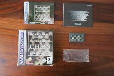 BOARD GAME CLASSICS - BACKGAMMON & CHESS & DRAUGHTS     //   GAME BOY ADVANCE
