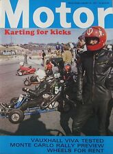 Motor magazine 23/1/1971 featuring Vauxhall Viva road test, Ford GT70, Karting