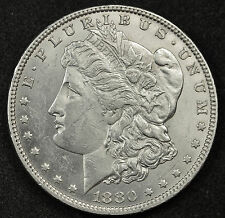 1880-o Morgan Silver Dollar. Error. Cud Reverse at 11 o'clock. Scarce. 83171