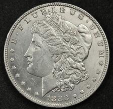 1880-o Morgan Silver Dollar. Error. Cud Reverse at 11 o'clock. Scarce. 83171