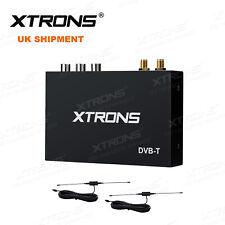 Car External DVB-T Digital TV Tuner Receiver Freeview Box with Dual Antenna UK