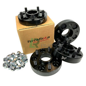 LAND ROVER DISCOVERY 3, 4 & 5 TERRAFIRMA 30MM BLACK WHEEL SPACERS SPACER SET X4