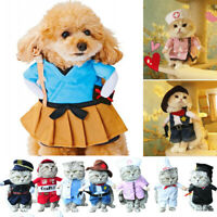 Funny Pet Dog Cat Clothes Cosplay Costume Puppy Dress Xmas Fancy Party Apparels