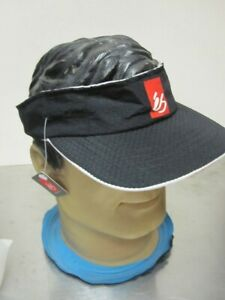 ES Skateboard Footwear Vintage Black Nylon Visor Hat 20 Year Old New Old Stock