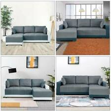 X-Large Sofa bed Corner Sofa Luxury Faux Leather & Fabric Sofa bed Settee