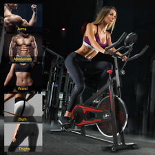 Heavy Duty Spin Exercise Bike GYM Home Fitness Cardio Workout Machine BLACK UK