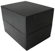 Individual Beautiful Watch Box with Cushion Smart Black Design Rectangular
