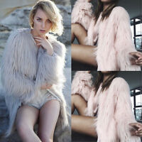 New Winter Coat Womens Warm Faux Fur Fox Coat Jacket Ladies Parka Outerwear Tops