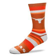 Texas Longhorns Ncaa Rainbow Stripe Crew Style Socks