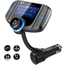 Bluetooth Car FM Transmitter MP3 Player Handsfree Radio Adapter Fast USB Charger