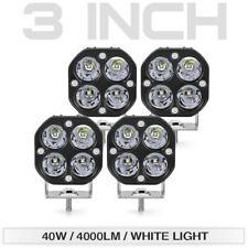 4Pcs 3inch 40W LED Work Light Bar Pods Offroad ATV Truck SUV Lamp Spot Driving