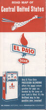 1961 El Paso Natural Gas Products Road Map: Central United States NOS
