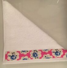 JOHN LEWIS FACE CLOTH TRIMMED WITH CATH KIDSTON PROVENCE ROSE PINK 30x30CM