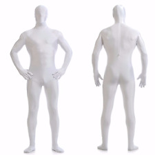 DH Zentai White Suit Men's Spandex Lycra Halloween Full Body Costume - Size S