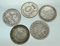 GROUP LOT of 5 Old SILVER Europe or Other WORLD Coins for your COLLECTION i75673