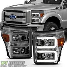 Smoke 2011-2016 Ford F250 F350 F450 Super Duty LED DRL Tube Headlamps Headlights